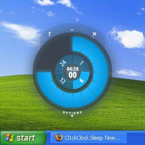 Cl1ckClock Sleep timer