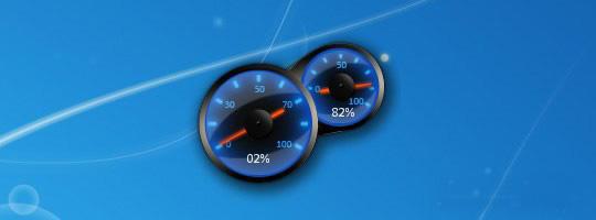 Blue Speed Meter