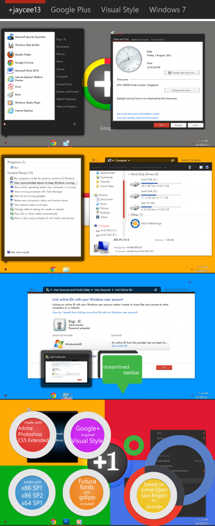 Google+ Visual Style for Win 7