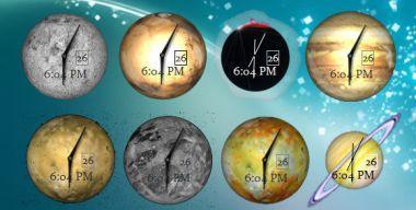 Desktop Planet Clock