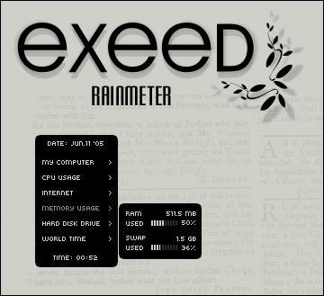 Exeed Rainmeter
