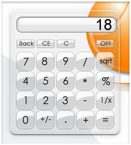 Glassy Calculator