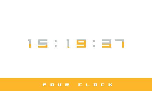 Pour Clock
