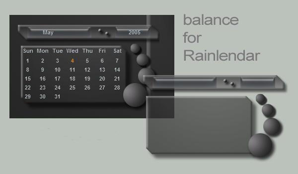 Balance for Rainlendar