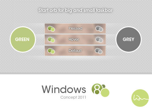 Windows 8 Concept - Start Orb