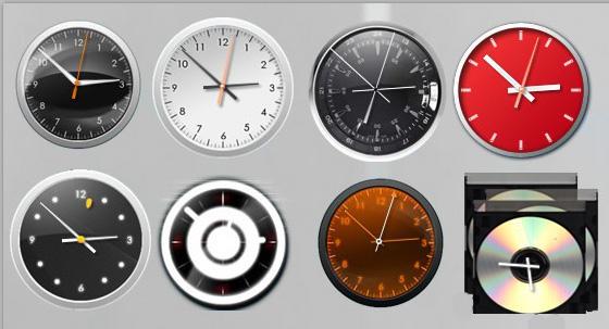 White Shiny Clock