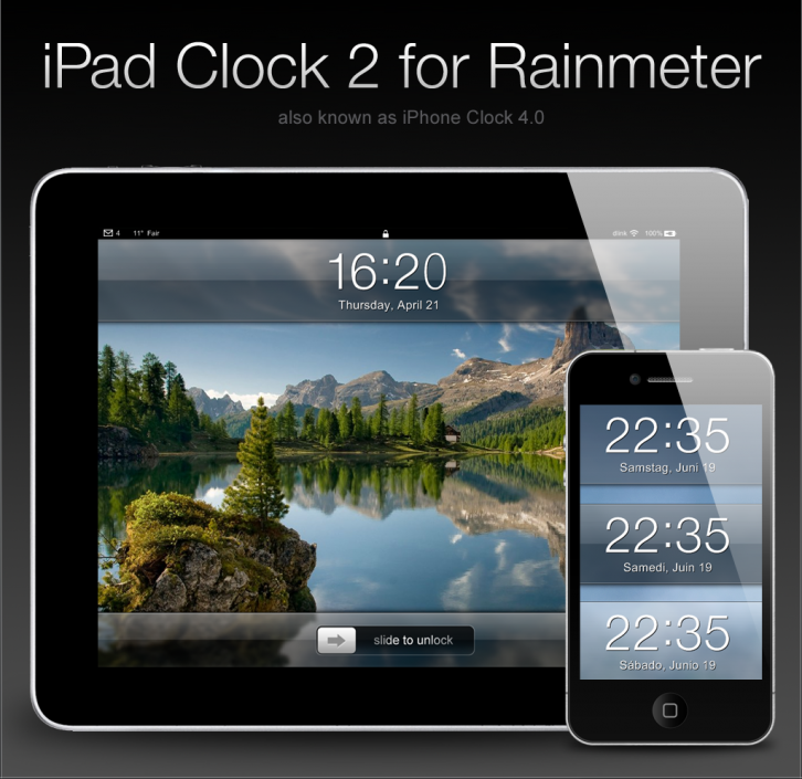 iPad Clock 2 for Rainmeter