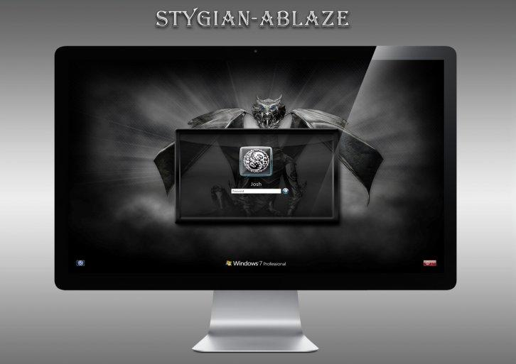 Stygian-Ablaze Logon Screen