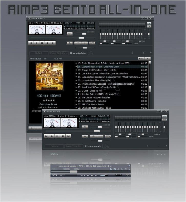 Winamp Bento for AIMP3 player