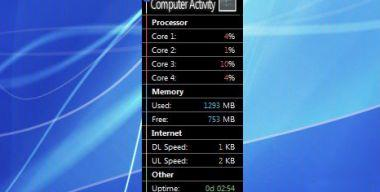 Computer Activity Black