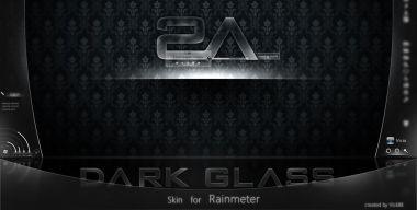 MOD+ Dark Glass for Rainmeter