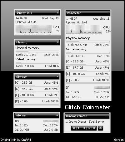 Glitch - Rainmeter