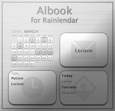 Albook for Rainlendar