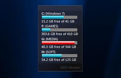 Black HDD Monitor