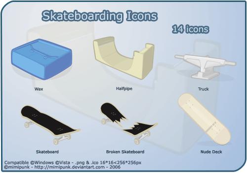 skateboarding-icons