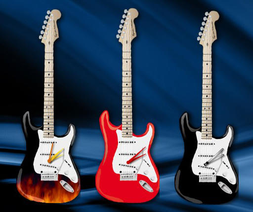 Electric Guitar Clock
