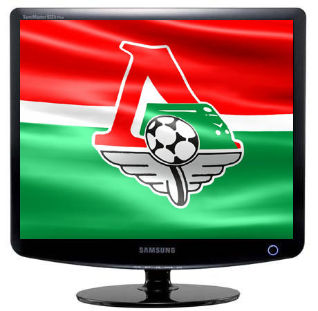 Флаг футбольного клуба Локомотив