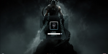Skyrim Logon - Windows 7