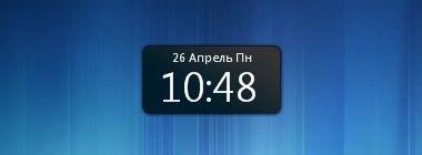 Presto sidebar clock