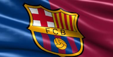 Флаг футбольного клуба Барселона