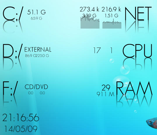 GeoSans 2.0 Rainmeter Skin