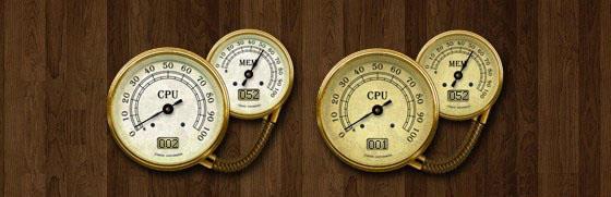Antique CPU Meter