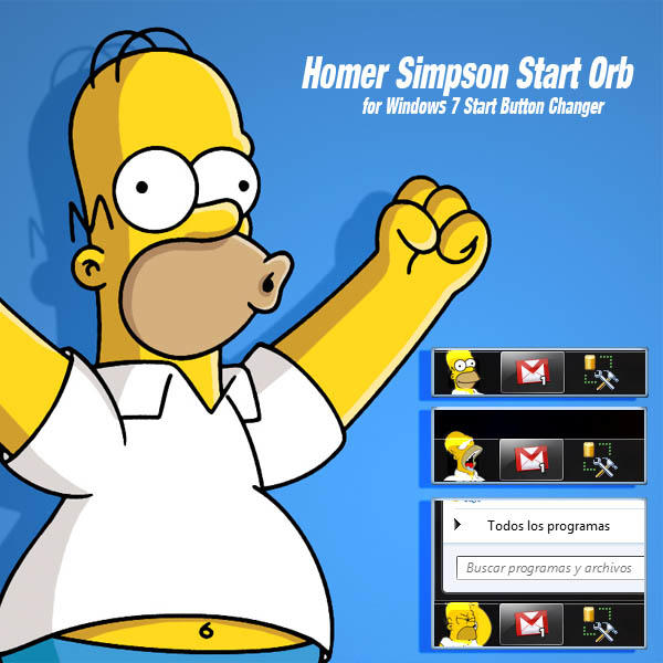 Homer Simpson Start Orb