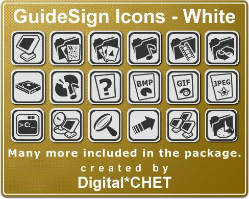 GuideSign Icons White