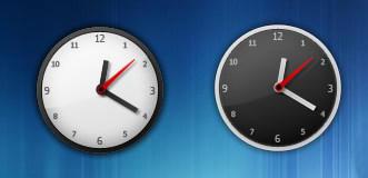 B&W Elegant Clock