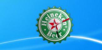 Heineken Clock