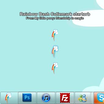 Rainbowdash cutiemark startorb