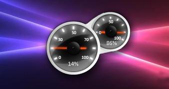 White Speed Meter