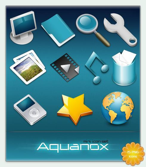 Aguanox mini Icon Set