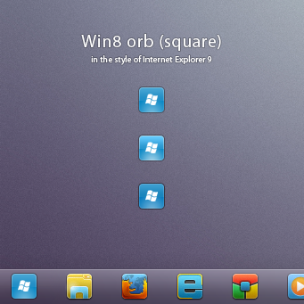 Win8 orb 'square for Windows 7