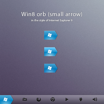Win8 orb 'small arrow'