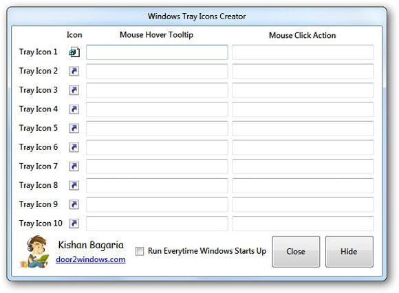 Windows Tray Icons Creator