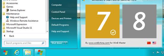 Windows 8 Start Menu Switcher
