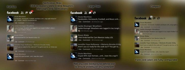 Facebook for Rainmeter 2.1.1