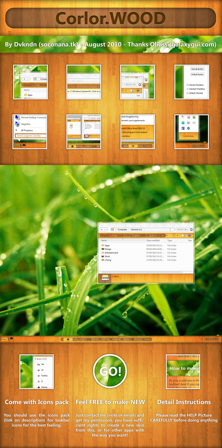 Color.WOOD for windows 7
