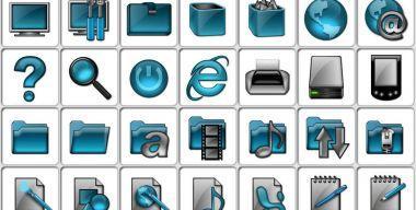 Aqua Glass Folders