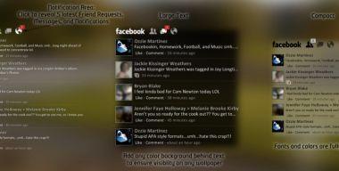 Facebook for Rainmeter 2.1.1