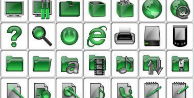 Green glass Folders