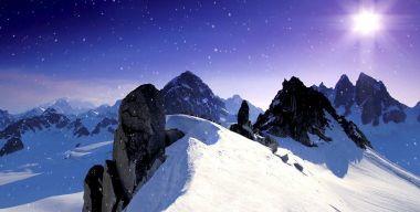 Снегопад в горах