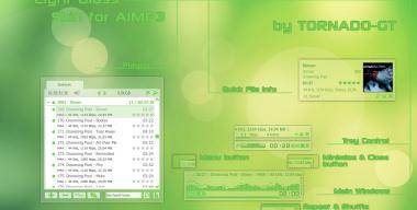 Light Glass skin for AIMP3