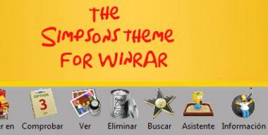 The Simpsons theme for winrar