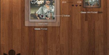Glass pocket for CDart Display