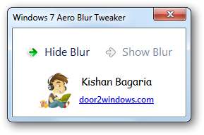 Windows 7 aero blur tweaker
