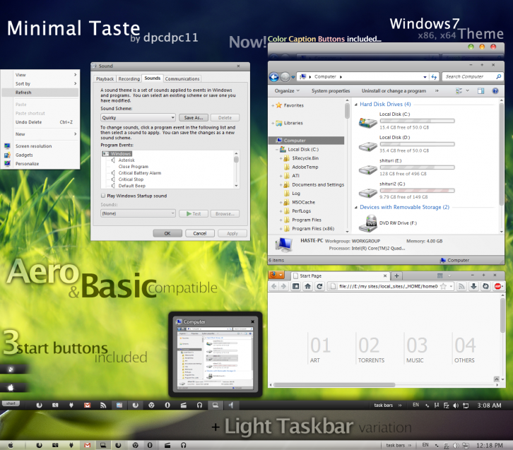 Minimal Taste for Windows7