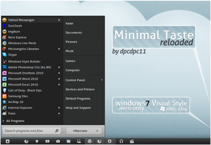 Minimal Taste Reloaded for W7