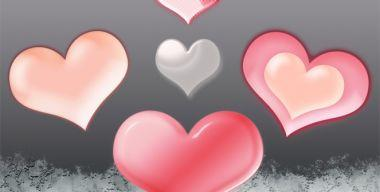 5 heart set